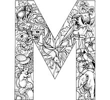 Animal Alphabet Letter M Photographic Print