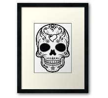 Skull Black  Framed Print