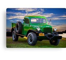 1949 Dodge Power Wagon Ram I Canvas Print