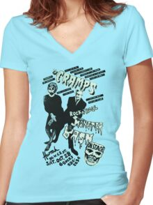 The Cramps - Concert Poster Women's Fitted V-Neck T-Shirt