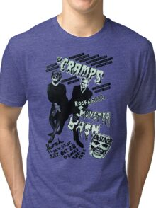 The Cramps - Concert Poster Tri-blend T-Shirt
