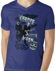 The Cramps - Concert Poster Mens V-Neck T-Shirt