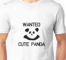Wanted: Cute Panda Unisex T-Shirt