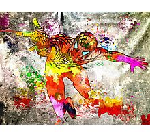 Spidey Grunge Watercolor Photographic Print