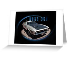 BOSS 351 Front Greeting Card