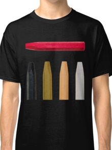 Oil Crayons with Bright Colors Red Pink Brown white and Black Classic T-Shirt