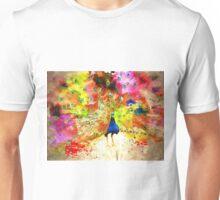 Pavo Grunge Watercolor Unisex T-Shirt