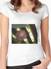 Pink Morning Glory Women's Fitted Scoop T-Shirt