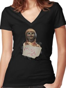 Annabelle the Doll Women's Fitted V-Neck T-Shirt