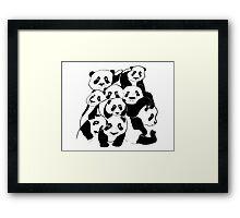 pandas pile Framed Print