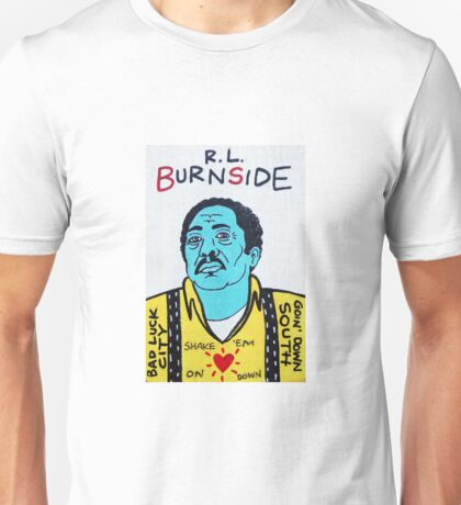 R.L. Burnside Blues Folk Art Unisex T-Shirt