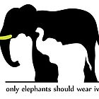 Only Elephants Should Wear Ivory (White Background) by thekohakudragon
