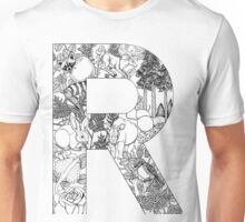 Animal Alphabet Letter R Unisex T-Shirt