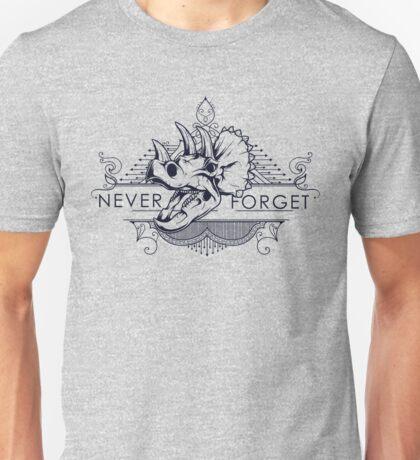 Rhinoceros, Never Forget. Unisex T-Shirt