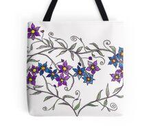Purple flowers - heart Tote Bag