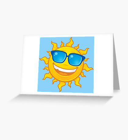 Summer Sun Wearing Sunglasses Greeting Card