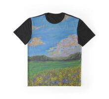 Sunflower Valley impressionism landscape painting Graphic T-Shirt