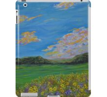 Sunflower Valley impressionism landscape painting iPad Case/Skin
