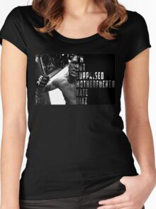 'I'M NOT SURPRISED MOTHERFUCKER' Nate Diaz Women's Fitted Scoop T-Shirt