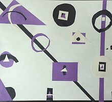 abstract purple, black, and white by cmoartist2012