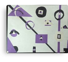 abstract purple, black, and white Canvas Print