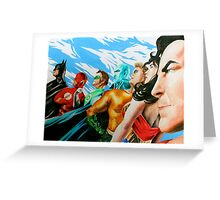 Alex Ross Inspired Justice League Greeting Card