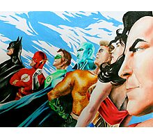 Alex Ross Inspired Justice League Photographic Print