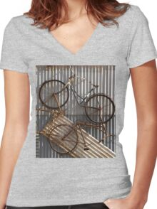 tricycle Women's Fitted V-Neck T-Shirt
