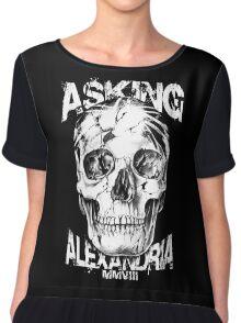 Asking Alexandria Skull England Rock N' Roll Chiffon Top