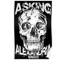 Asking Alexandria Skull England Rock N' Roll Poster