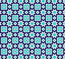 Blue abstract pattern background by ikshvaku