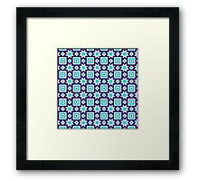 Blue abstract pattern background Framed Print