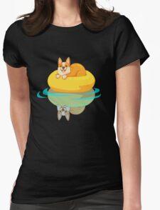 Summer Corgi Womens Fitted T-Shirt