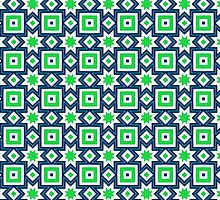 Blue and green abstract pattern background by ikshvaku