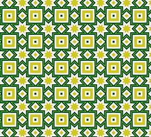 Yellow and green abstract pattern background by ikshvaku