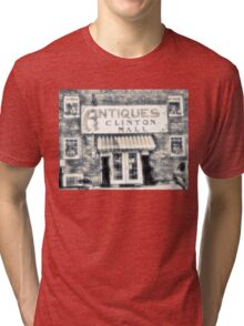 """""""Antiques... Clinton Mall, #4""""... prints and products Tri-blend T-Shirt"""