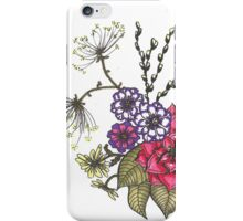 Flowers and Pussy Willows iPhone Case/Skin