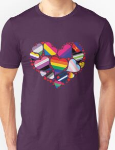 ALL PRIDE Heart Unisex T-Shirt