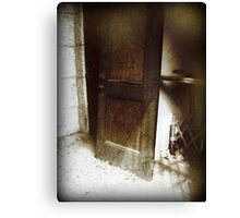 Dark Grungy Gothic Door to Oblivion Canvas Print