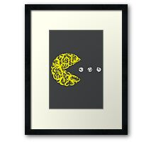 Inside the Lines: Pac-Man Framed Print
