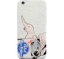 Pink Elephants Make You Think! iPhone Case/Skin