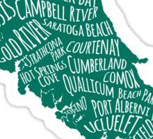Vancouver Island Cities Sticker