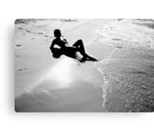 Just Me and the Sea Canvas Print