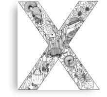 Animal Alphabet Letter X  Canvas Print