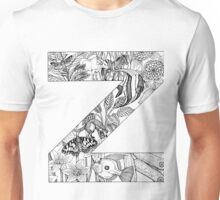 Animal Alphabet Letter Z Unisex T-Shirt