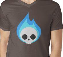 Flaming Cute Bones Mens V-Neck T-Shirt