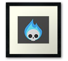 Flaming Cute Bones Framed Print