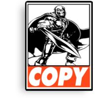 Taskmaster Copy Obey Design Canvas Print