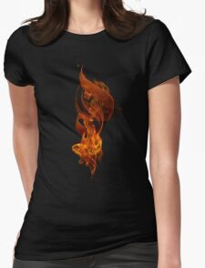 """""""The Fire"""" (""""Al Nar"""" in Arabic) Womens Fitted T-Shirt"""