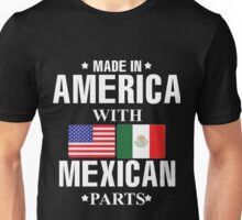 Mexican with America flag Unisex T-Shirt